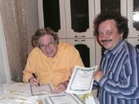 Подписание сертификатов для участников семинара